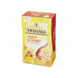 Twinings Infusion Lemon & Ginger 4x20s - Bulkbox Wholesale