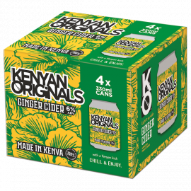 Kenyan Originals Ginger Cider 4 x 330ml - Bulkbox Wholesale