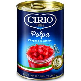 Cirio Chopped Tomatoes 12x400g - Bulkbox Wholesale
