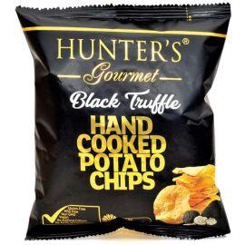 Hunters Black Truffle Potato Chips  6x125g - Bulkbox Wholesale