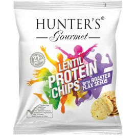Hunters Lentil Protein Chips With Roasted Flax Seeds 6x25g - Bulkbox Wholesale