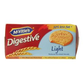 Mcvities Digestive Light Biscuit 24x250g - Bulkbox Wholesale