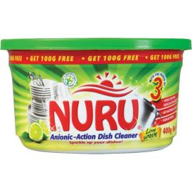 Nuru Dish Washing Paste Lime Wave 6x400g + 100g - Bulkbox Wholesale