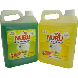 Nuru Dish Washing Liquid Lime Wave 4x5L - Bulkbox Wholesale