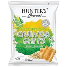 Hunters Quinoa Chips Jalapeno Cheddar 6x28g - Bulkbox Wholesale
