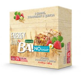 Bakalland Energy Bar No Sugar Strawberry & Quinoa 25x30g - Bulkbox Wholesale