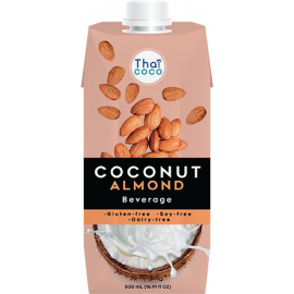 Thai Coco Coconut Non-Dairy Almond Beverage 6x330ml - Bulkbox Wholesale