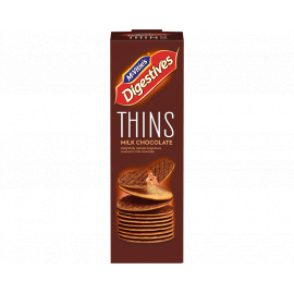 Mcvities Digestive Thins Milk Chocolate 16x93g - Bulkbox Wholesale