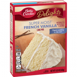 Betty Crocker Super Moist French Vanilla Cake Mix 6x432g - Bulkbox Wholesale