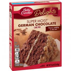 Betty Crocker Super Moist German Chocolate Cake Mix  6x432g - Bulkbox Wholesale