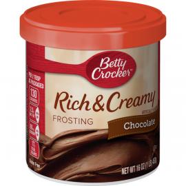 Betty Crocker Frosting Dark Chocolate   4x453g - Bulkbox Wholesale