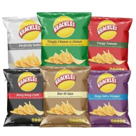 Krackles Potato Crisps Assorted - Bulkbox Wholesale