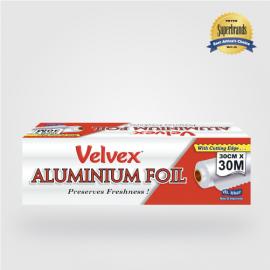 Velvex Aluminium Foil Catering 30cmX30m - 6 Rolls - Bulkbox Wholesale