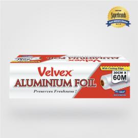 Velvex Aluminium Foil Catering 30cmX60m - 6 Rolls - Bulkbox Wholesale