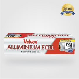 Velvex Aluminium Foil Catering 45cmX60m - 1 Roll - Bulkbox Wholesale