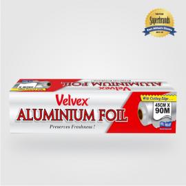 Velvex Aluminium Foil Catering 45cmX90m - 6 Rolls - Bulkbox Wholesale