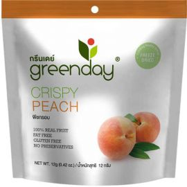 Greenday Crispy Peach 12x12g - Bulkbox Wholesale