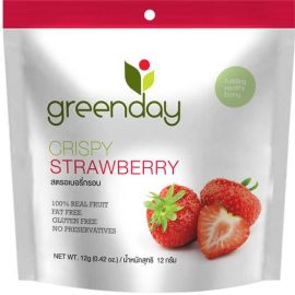 Greenday Crispy Strawberry 12x12g - Bulkbox Wholesale