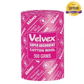 Velvex Cotton Wool Hospital Quality 500g - 12 Rolls - Bulkbox Wholesale