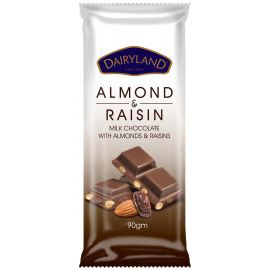 Dairyland Almond & Raisin Chocolate 18x50g - Bulkbox Wholesale