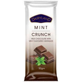 Dairyland Mint Crunch Chocolate 18x50g - Bulkbox Wholesale
