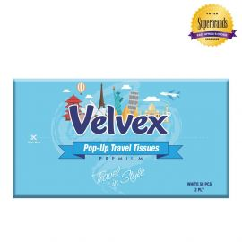 Velvex Standard Travel Tissue 50 Sheets - 60Pkts - Bulkbox Wholesale