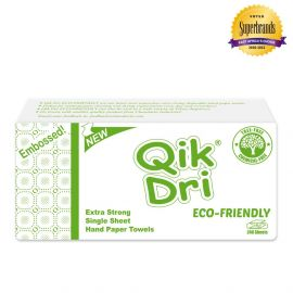 Qik Dri Hand Paper Towel Eco-Friendly Embossed 240 Sheets - 12Pkts - Bulkbox Wholesale