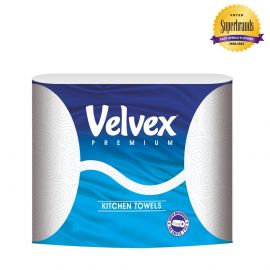 Velvex Kitchen Towel Twin roll-80 Sheets - 24x2 Rolls - Bulkbox Wholesale
