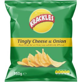 Krackles Potato Crisps Tingly Cheese & Onion - Bulkbox Wholesale