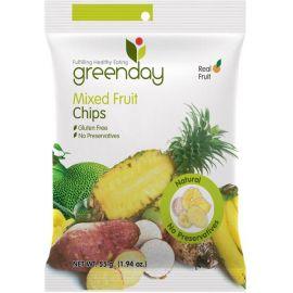 Greenday Mixed Fruit Chips  12x55g - Bulkbox Wholesale