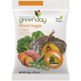 Greenday Mixed Veggies Chips 12x35g - Bulkbox Wholesale