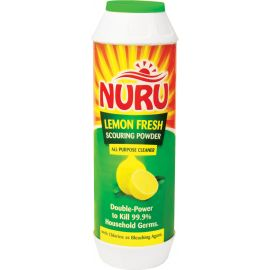 Nuru Scouring Powder Lemon Fresh 24x500g Bottle - Bulkbox Wholesale
