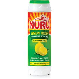 Nuru Scouring Powder Lemon Fresh 12x1Kg Bottle - Bulkbox Wholesale