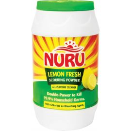 Nuru Scouring Powder Lemon Fresh 24x250g Bottle - Bulkbox Wholesale