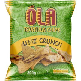 Ola Tortilla Chips Lime Crunch - Bulkbox Wholesale