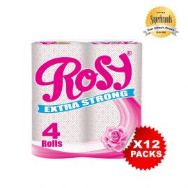 Rosy Printed 2-Ply Toilet Tissue - 4s'x12 - Bulkbox Wholesale