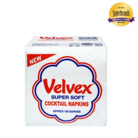 Velvex White Cocktail 100 Sheets - 60Pkts - Bulkbox Wholesale