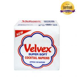 Velvex White Cocktail 100 Sheets - 60Pkts - Bulkbox Wholesale