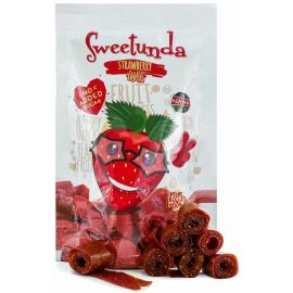 Sweetunda Strawberry Rolls Pouch 200g - Bulkbox Wholesale