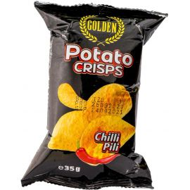 Golden Potato Crisps Chilli Pili 50x35g - Bulkbox Wholesale