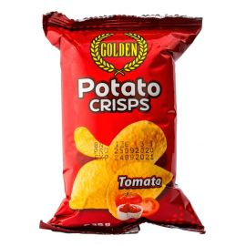 Golden Potato Crisps Tomato 50x35g - Bulkbox Wholesale
