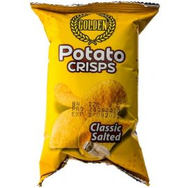 Golden Potato Crisps Classic Salted 50x35g - Bulkbox Wholesale