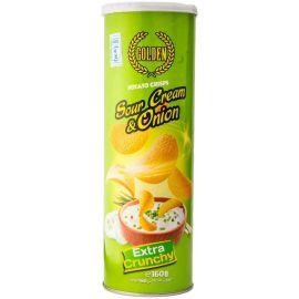 Golden Potato Crisps Sour Cream & Onion 24x160g - Bulkbox Wholesale