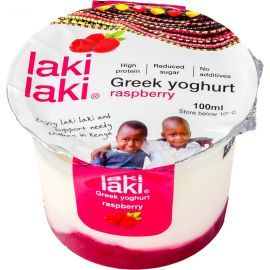 Laki Laki Greek Yoghurt Raspberry 12x100ml - Bulkbox Wholesale