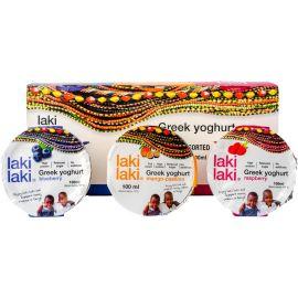 Laki Laki 6-Pack Assorted Greek Yoghurt 3x100ml - Bulkbox Wholesale