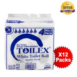 Toilex 2-Ply Toilet Tissue - 4s'x12 - Bulkbox Wholesale