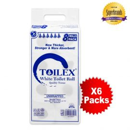 Toilex 2-Ply Toilet Tissue - 8s'x6 - Bulkbox Wholesale