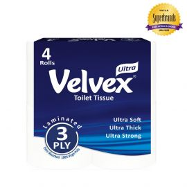 Velvex 3-Ply Toilet Tissue - 4s'x12 - Bulkbox Wholesale