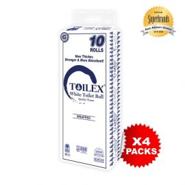 Toilex 2-Ply Toilet Tissue - 10s'x4 - Bulkbox Wholesale