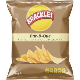 Krackles Potato Crisps Bar-B-Que - Bulkbox Wholesale
